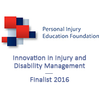 PIEF Innovation in Injury & Disability Management Award finalist 2016