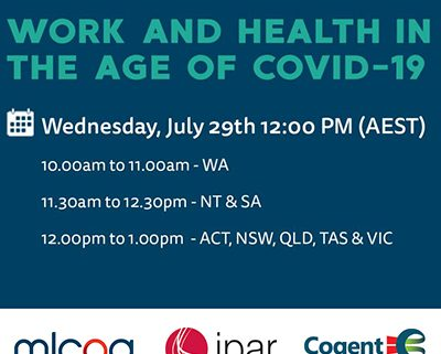 Webinar - Work and Health in the Age of COVID-19